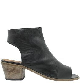 Moma Moma Black Side Zipper Sandal 2567