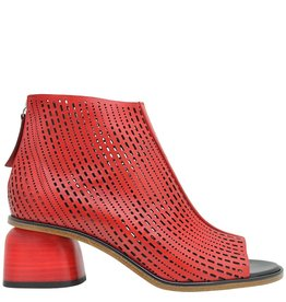Halmanera Halmanera Red Laser Back Zip Open Toe Bootie Billie
