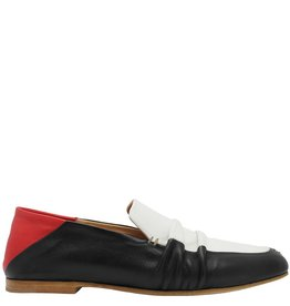 Halmanera Halmanera Black White Red Nappa Soft Back Loafer Casey