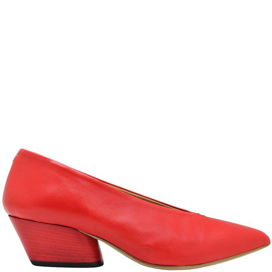 Halmanera Halmanera Red Point Toe Pump Low Heel Luna