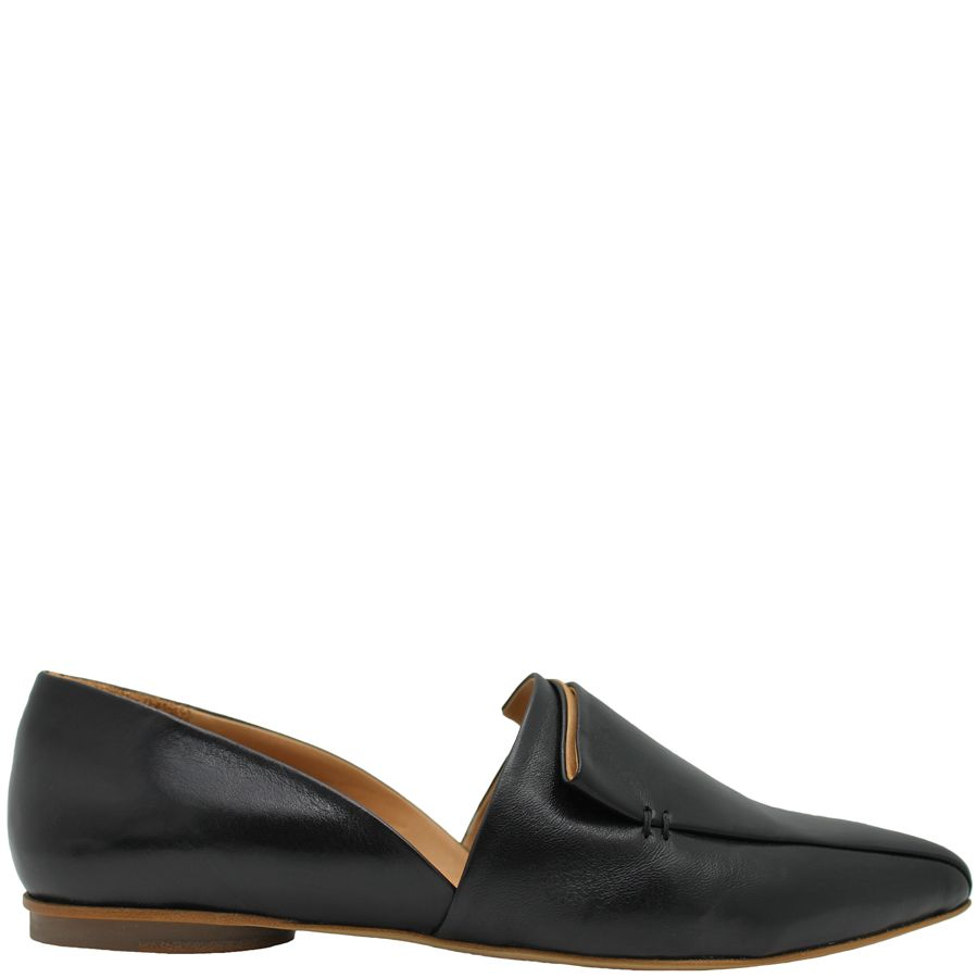 Halmanera Halmanera Black Pleated D'Orsay Flat Rodl