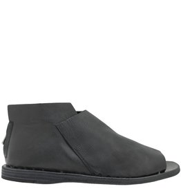 Officine Creative OfficineCreative Black Flat Sandal Back Zipper Chock