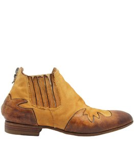 Ink Ink Camel Linen Back Zipper Ankle Boot 4120