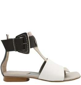 Ixos Ixos Khaki Multi Flat Thong Sandal With Buckle Dina