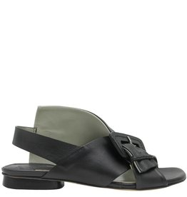 Ixos Ixos Black Flat Criss Cross Buckled Sandal Elsa