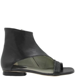 Ixos Ixos Black Asymmetric Toe Wrap Side Zipper Fiona