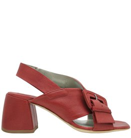 Ixos Ixos Red Buckled Sling Medium Heel Genea
