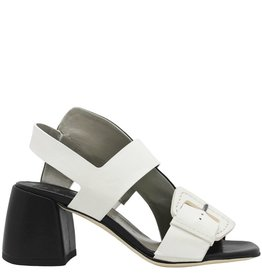 Ixos Ixos Black White 2 Band Medium Heel Sling Hofit