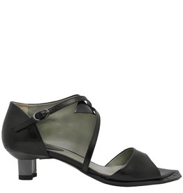 Ixos Ixos Black Asymmetric Sandal With Kitten Heel Noemi