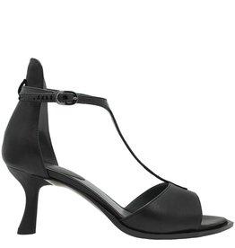 Ixos Ixos Black Sandal With Patent T-Strap Uche
