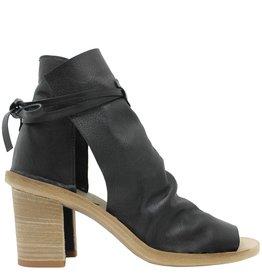 Officine Creative OfficineCreative Black 2-Panel Sandal With Ties Ewa