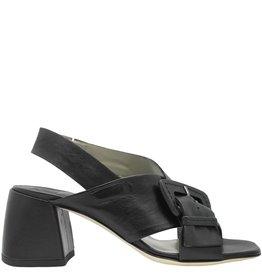 Ixos Ixos Black Buckled Sling Medium Heel Genea