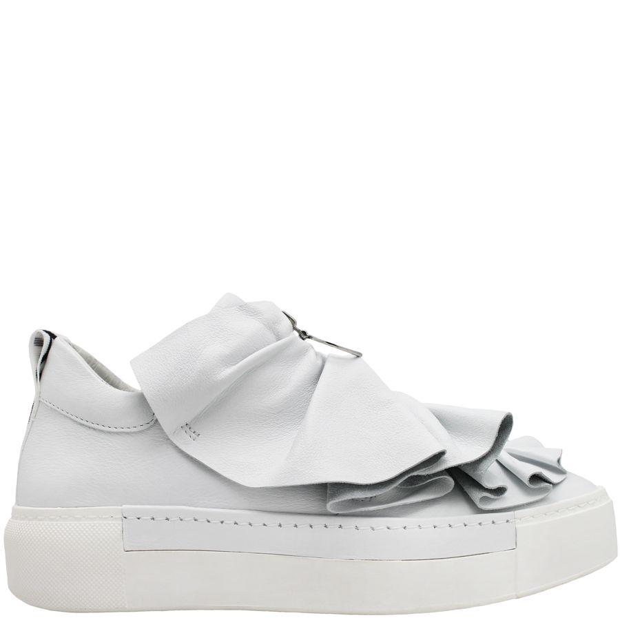 VicMatie VicMatie White Sneaker With Ruffle 6227