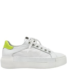 VicMatie VicMatie White Patent Sneaker With Zipper 6240