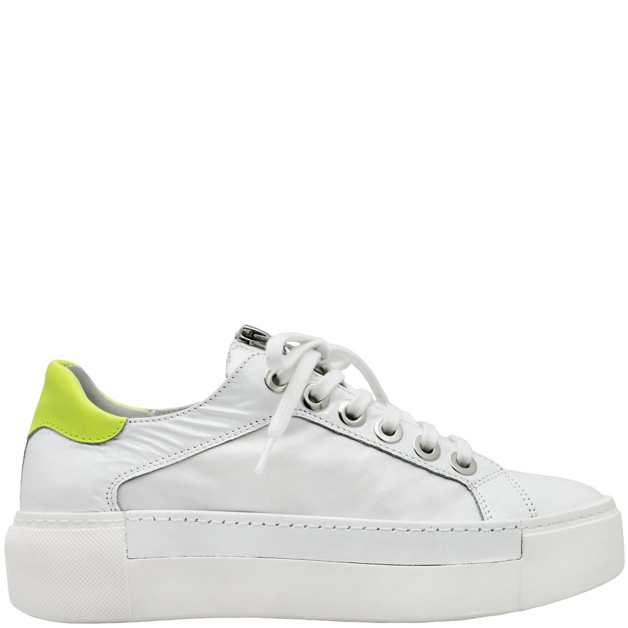 VicMatie VicMatie White Patent Sneaker With Zipper 6240