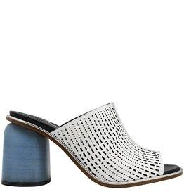 Halmanera Halmanera White Laser Mule Blue High Heel Claire