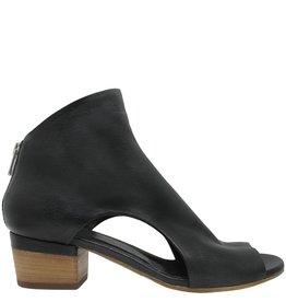 Officine Creative OfficineCreative Black Open Side Sandal With Back Zip Inge