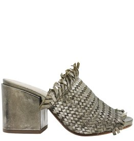 Strategia Strategia Metallic Frayed Woven Mule 3581