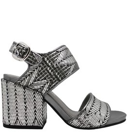 Strategia Strategia Silver Topstitched 2-Piece Sandal 3594