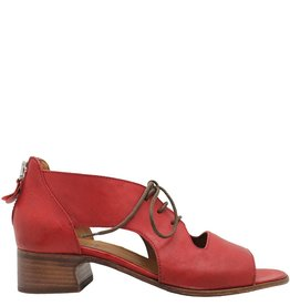 Moma Moma Red Lace Up Sandal With Back Zip 2568