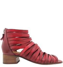 Moma Moma Red Huarache Sandal With Back Zipper 2569
