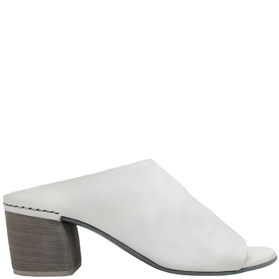 Del Carlo DelCarlo White Peep Toe Mule 3200