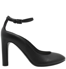 Del Carlo DelCarlo Black Buckled Ankle Strap Pump 5040