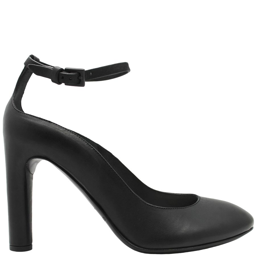 Del Carlo DelCarlo Black Buckled Ankle Strap Pump 5040