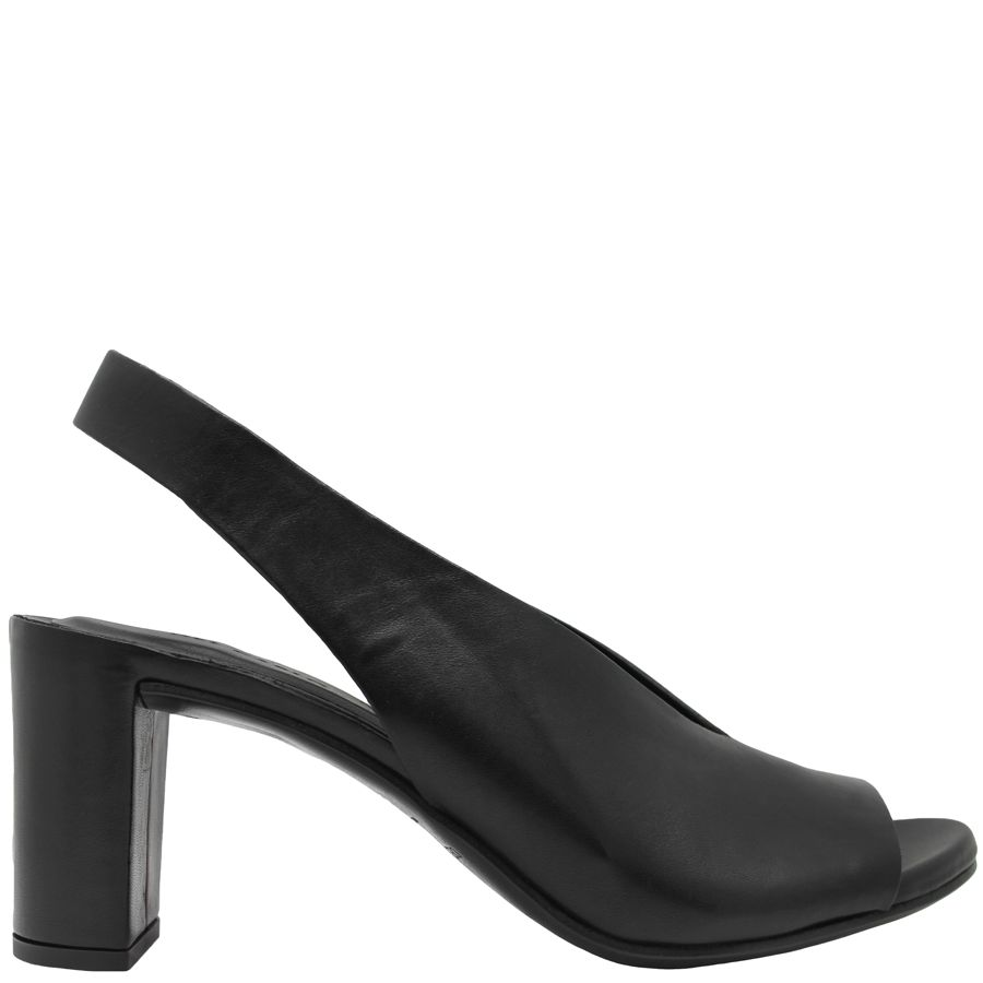 Del Carlo DelCarlo Black Sling Back With Wrapped Leather Heel 5080