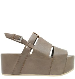 Del Carlo DelCarlo Taupe Grain Calf Sling Back Wedge 5180