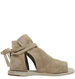 Officine Creative OfficineCreative Taupe Suede 2-Panel Flat Sandal Jan