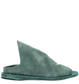 Officine Creative OfficineCreative Sea Green Suede Slip On Mule Moura