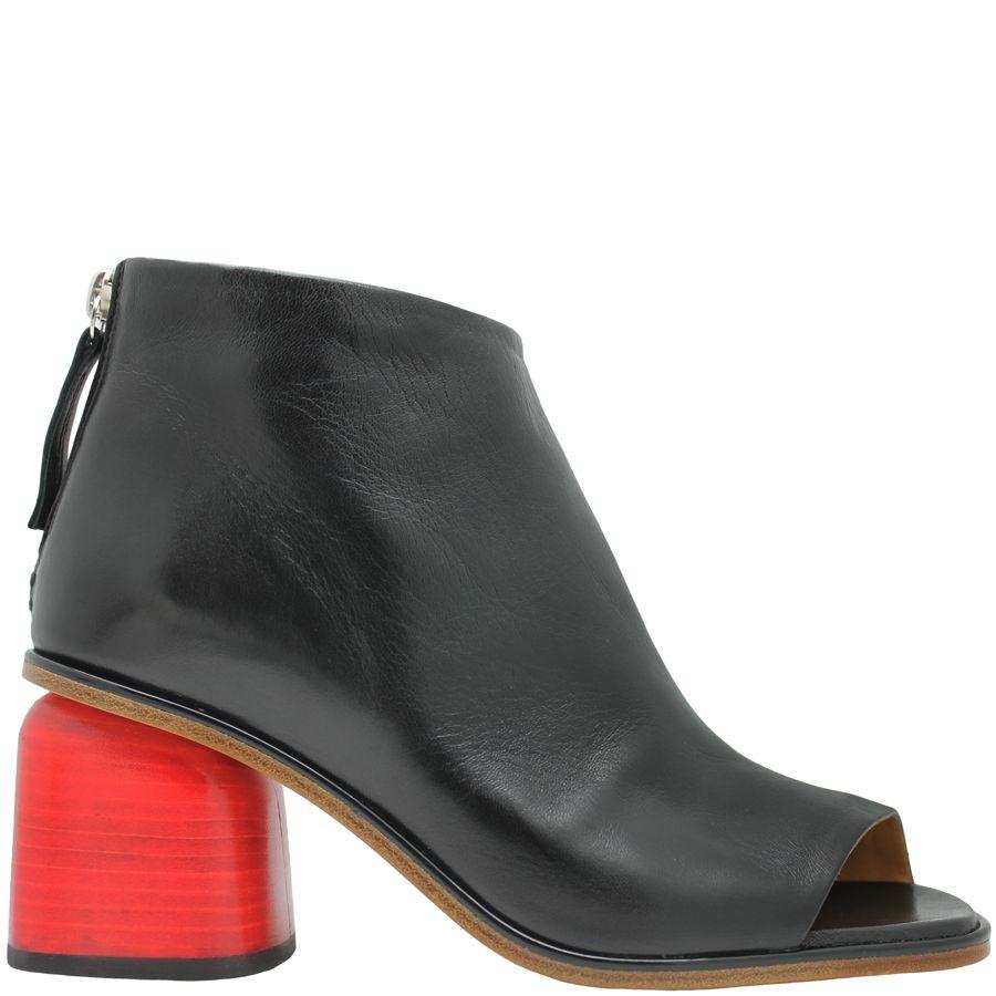 Halmanera Halmanera Black Med Red Heel With Asymmetric Toe Hirel
