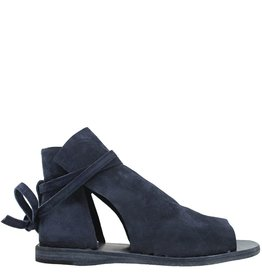 Officine Creative OfficineCreative Navy Suede 2-Panel Flat Sandal Jan