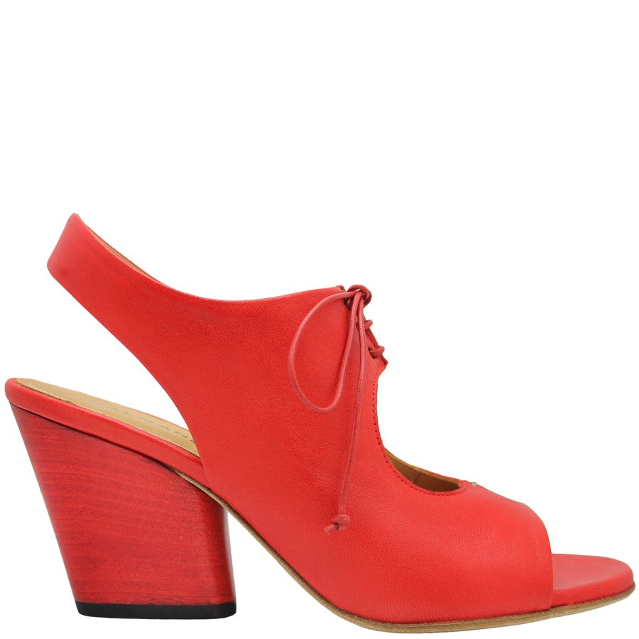 Halmanera Halmanera Red Lace-Up Sandal Hellam