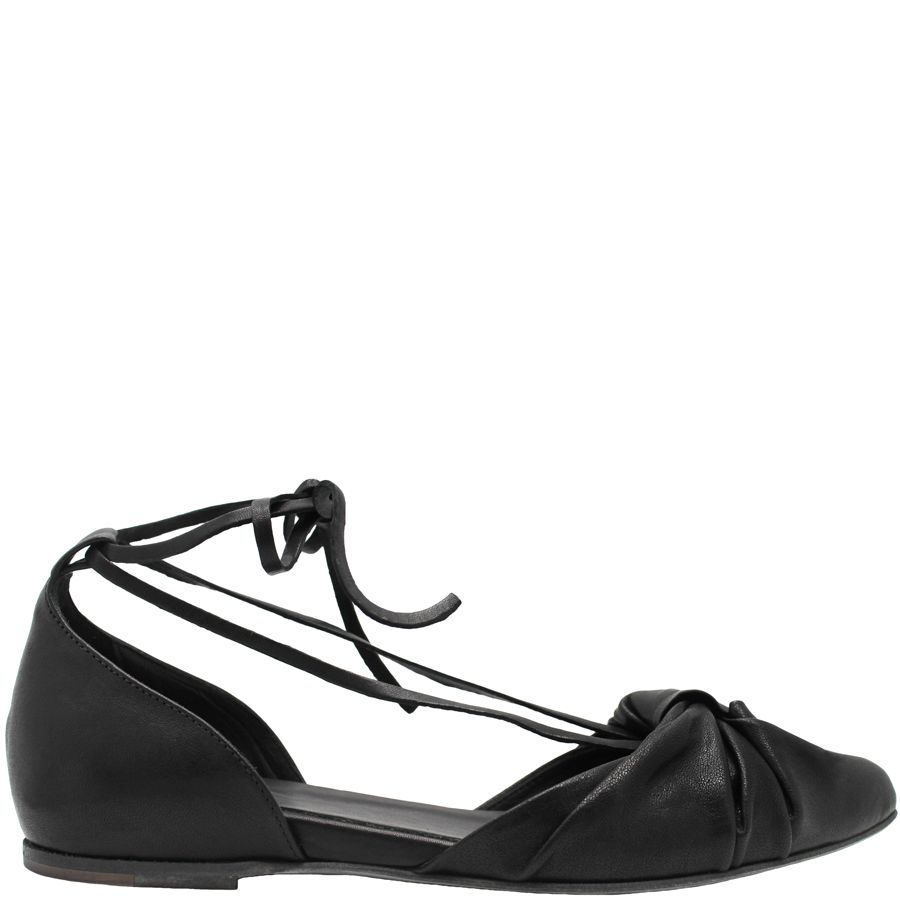Ink Ink Black Knotted Ballerina With Ties 4130