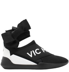 VicMatie VicMatie Black Signature Sneaker With Ankle Tie 6251