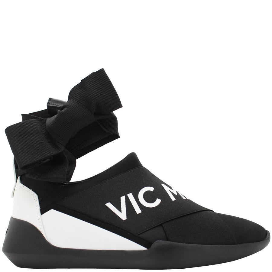 VicMatie VicMatie Black Signature Sneaker With Ankle Tie 6251