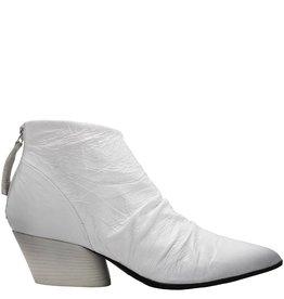Halmanera Halmanera White Patent Ruched Ankle Boot Kos