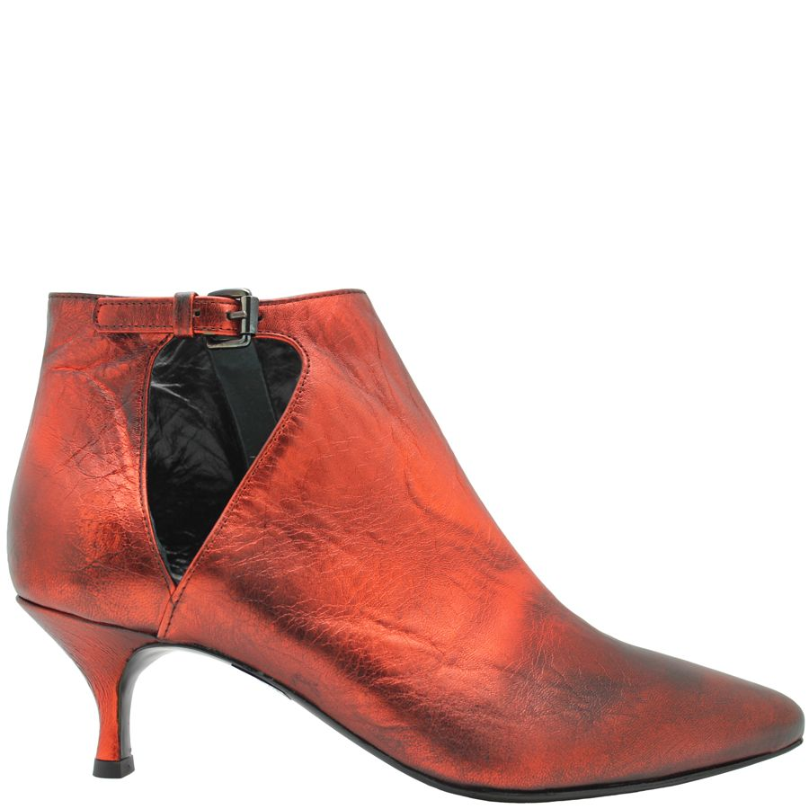 Strategia Strategia Orange Side Buckle Point Toe Boot 4927