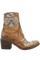Fauzian Jeunesse FauzianJeunesse Camel  Embroidered Side Zip Boot 3604