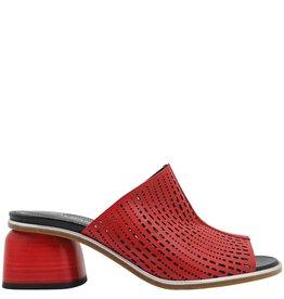 Halmanera Halmanera Red Laser Mule With Red Heel Birgit