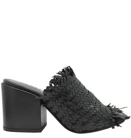 Strategia Strategia Black Frayed Woven Mule 3581