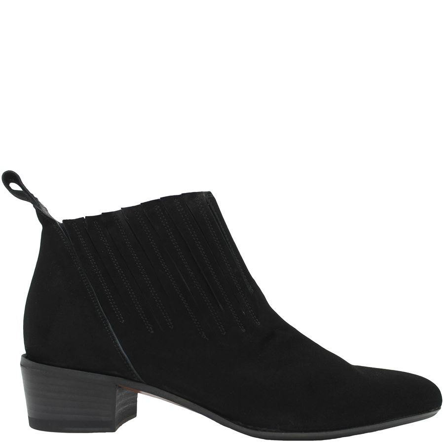 Ink Ink Black Suede Pull-on Boot 4341