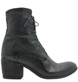 Fauzian Jeunesse FauzianJeunesse Black Lace-Up Ankle Boot 3601