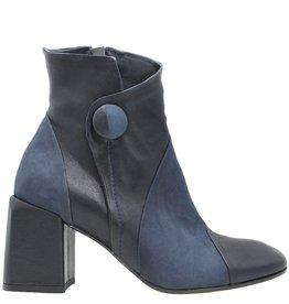 Ixos Ixos Blue Square Toe Boot with Button 7031