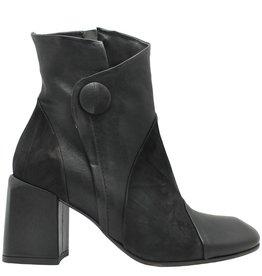 Ixos Ixos Black Square Toe Boot with Button 7031