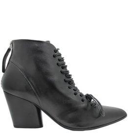 Halmanera Halmanera Black Lace-Up Ankle Boot Vina