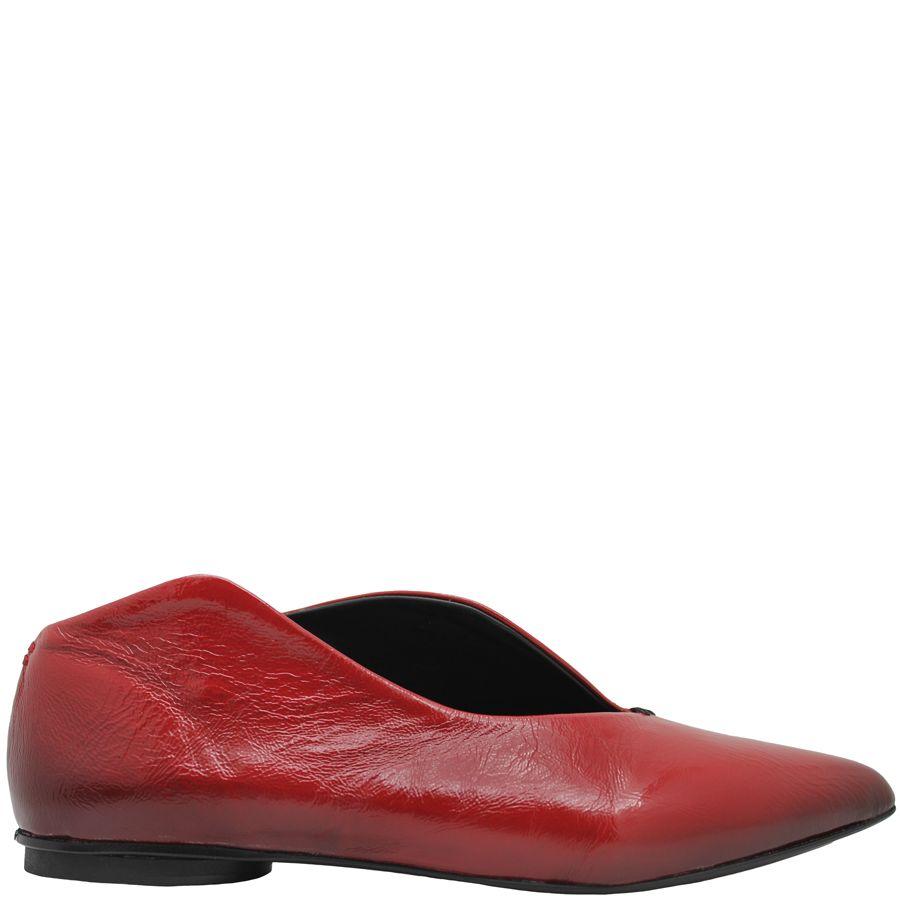Halmanera Halmanera Red Patent Asymmetric Flat Flavia