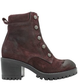 Now Now Bordo Suede Stud Boot With Front Zipper 4780